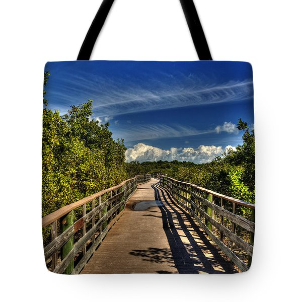 Tote Bag featuring the photograph Long Key Park Passage by Julis Simo