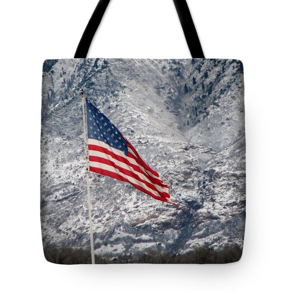 Tote Bag featuring the photograph Long May She Wave by John Glass