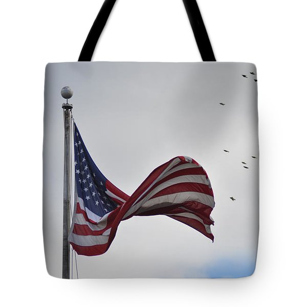 Long May You Wave Tote Bag by Bill Cannon