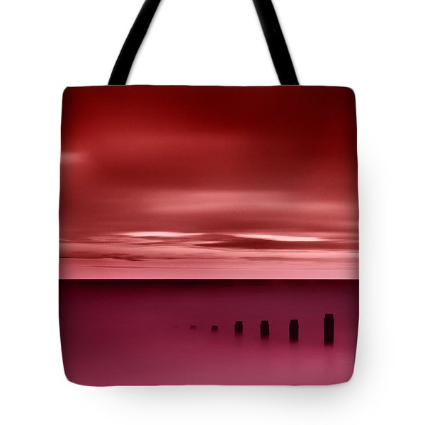 Long Red Sunset Tote Bag