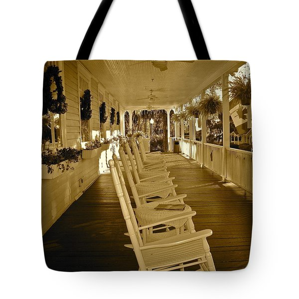 Long Southern Porch Tote Bag