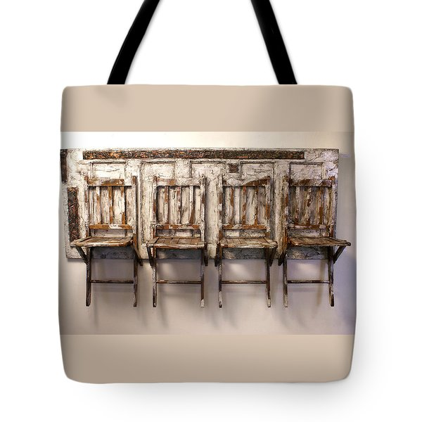 Long Wait By The Door Tote Bag
