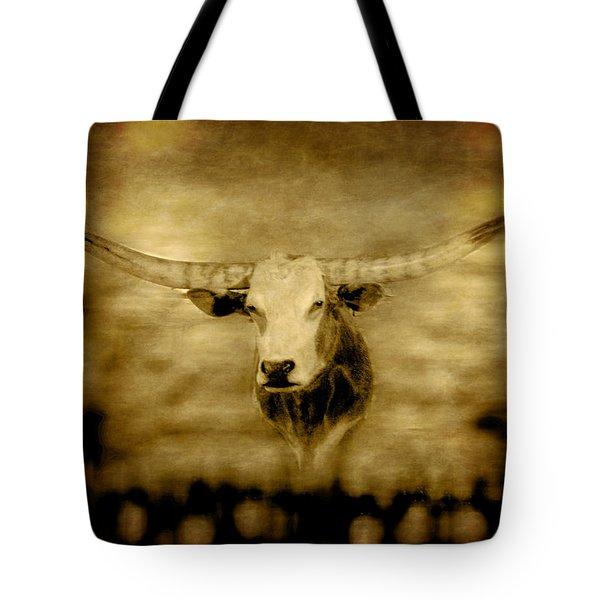 Longhorn Bull Tote Bag