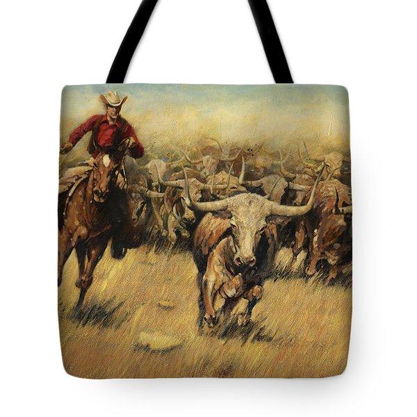 Longhorn Stampede Tote Bag