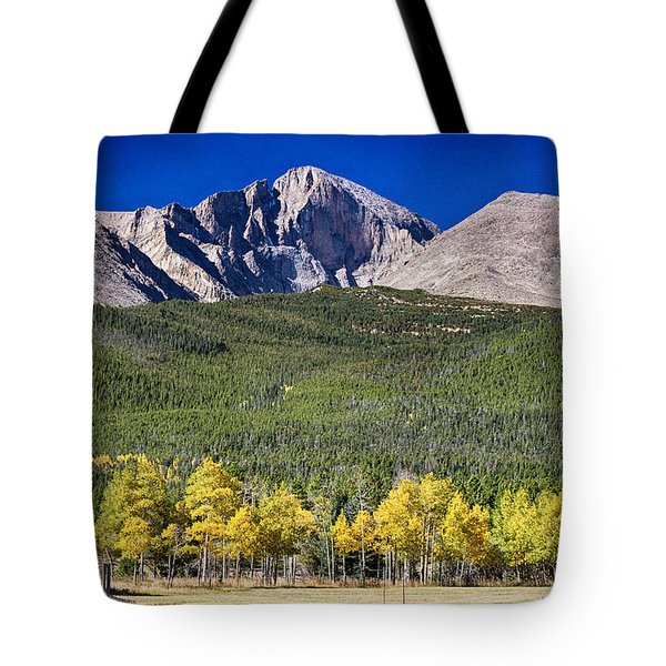 Longs Peak A Colorado Playground Tote Bag