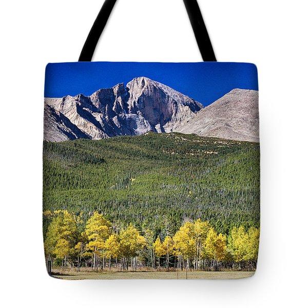 Longs Peak A Colorado Playground Tote Bag