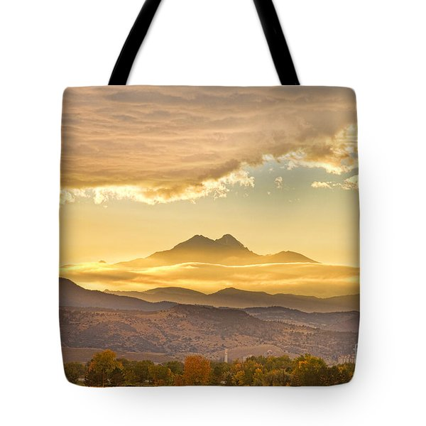 Longs Peak Autumn Sunset Tote Bag by James BO  Insogna
