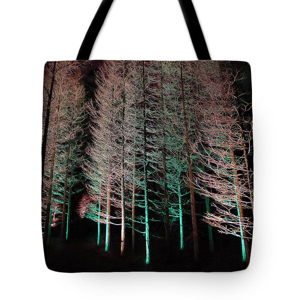 Tote Bag featuring the photograph Longwood Gardens - Tree Stand At Night by Richard Reeve
