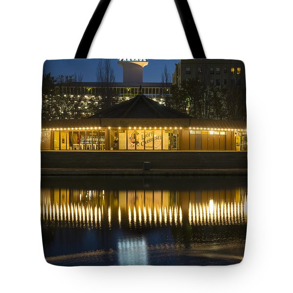 Looff Carrousel Reflection Tote Bag