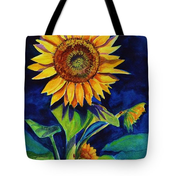 Midnight Sunflower Tote Bag