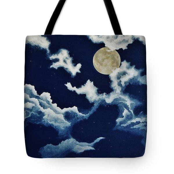 Look At The Moon Tote Bag