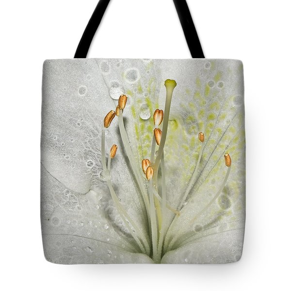 Look Inside A White Azalea Tote Bag