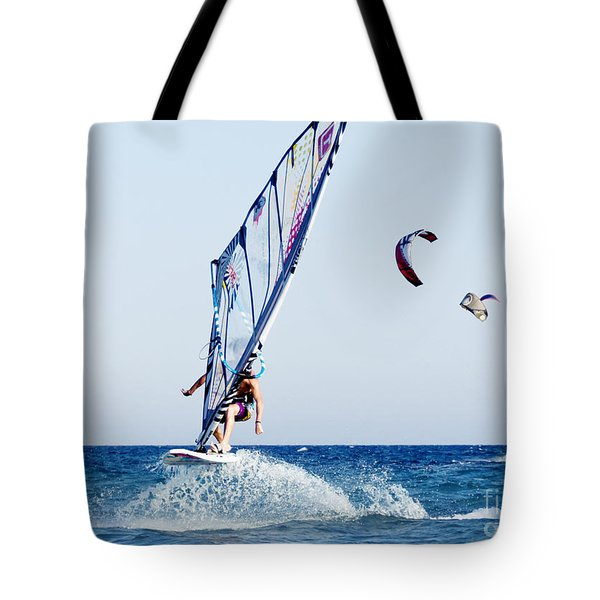 Look No Hands Tote Bag by Stelios Kleanthous