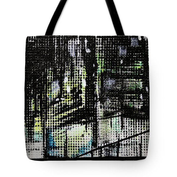 Look Up Manhattan At Night Tote Bag by Jack Diamond