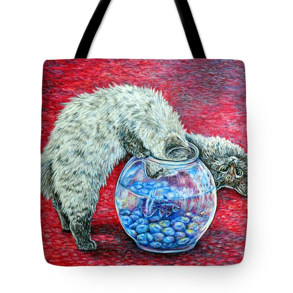 Lookin For Some Betta Kissin Tote Bag by Gail Butler