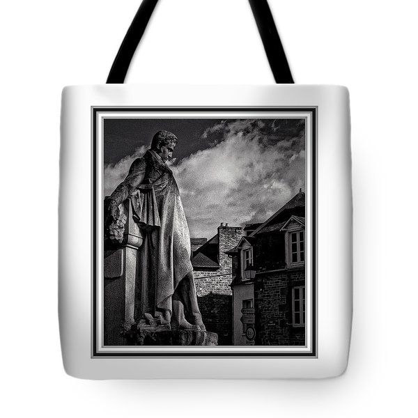 Tote Bag featuring the photograph Looking At The Houses by Karo Evans