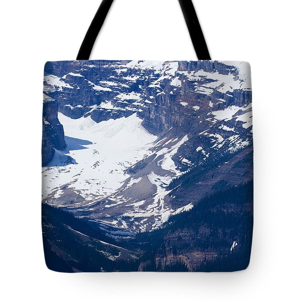 Looking Down At Lake Louise #2 Tote Bag