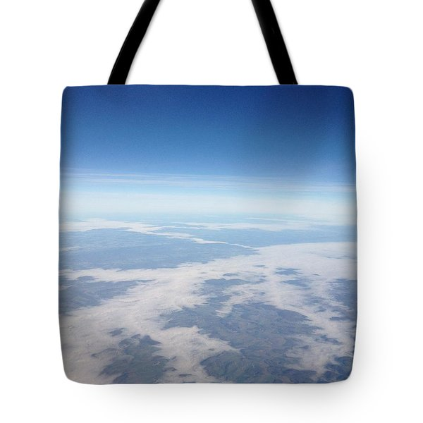 Looking Down On The Earth Tote Bag by Daniel Precht