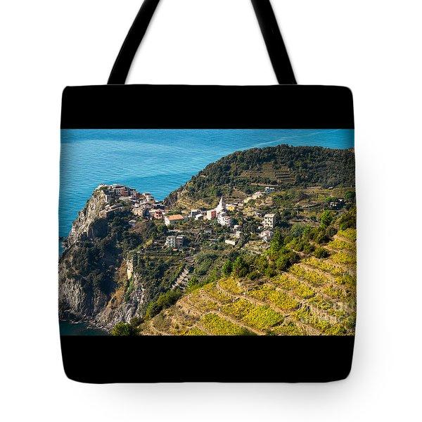 Looking Down Onto Corniglia Tote Bag