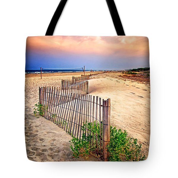 Looking Down The Beach Tote Bag