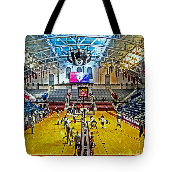 Looking Down The Length Of The Court Tote Bag