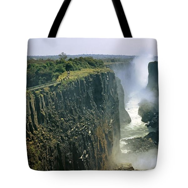 Looking Down The Victoria Falls Gorge Tote Bag by Panoramic Images