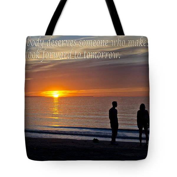 Looking Forward To Tomorrow Tote Bag by Maria Janicki