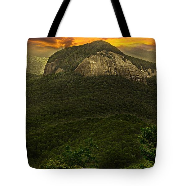 Looking Glass Rock North Carolina  Tote Bag