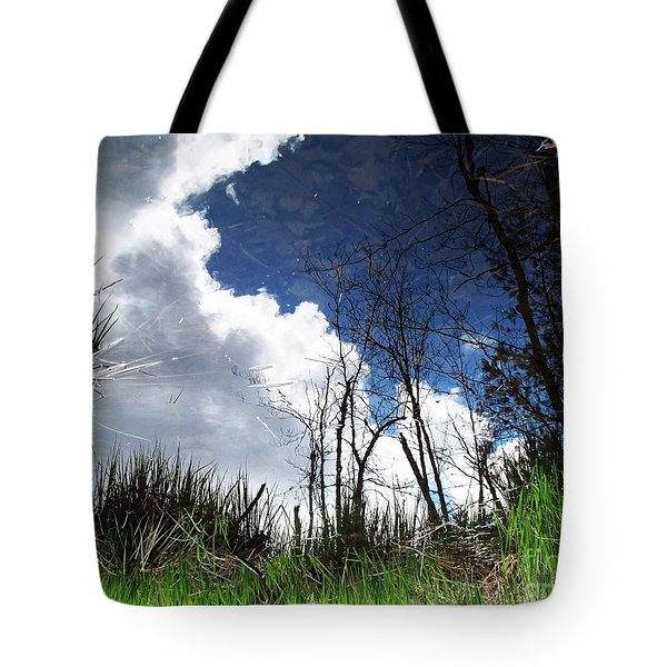 Tote Bag featuring the photograph Looking Into The Bog by Joy Nichols