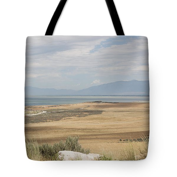 Tote Bag featuring the photograph Looking North From Antelope Island by Belinda Greb
