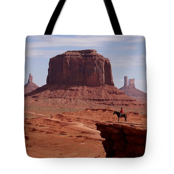 Looking Out At John Ford Point Tote Bag
