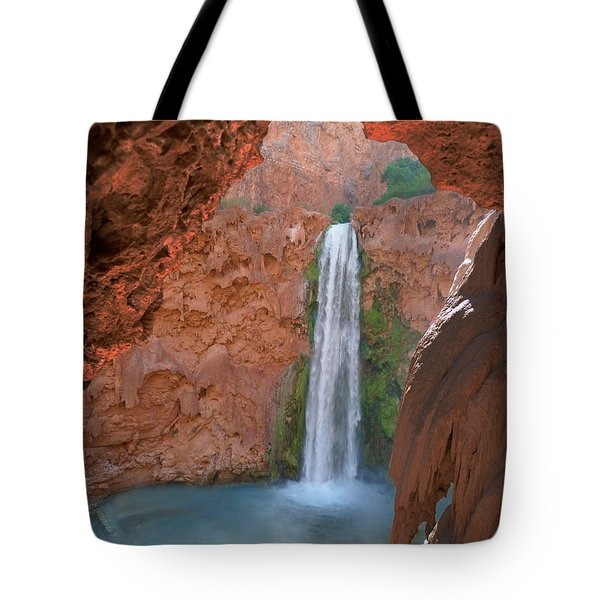 Looking Out From The Cave Tote Bag by Alan Socolik