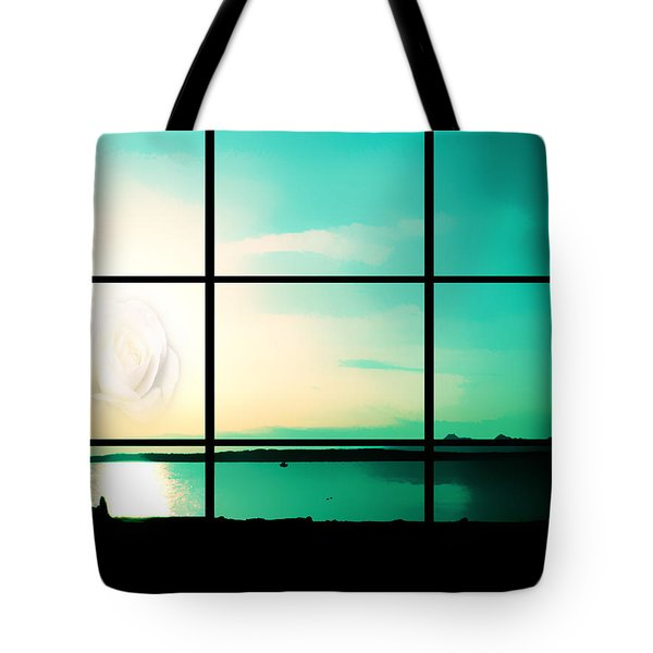 Looking Out My Window Tote Bag