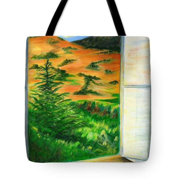 Looking Out The Window Tote Bag by Colleen Ward