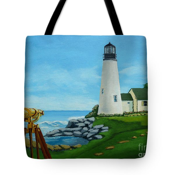 Looking Out To Sea Tote Bag by Anthony Dunphy