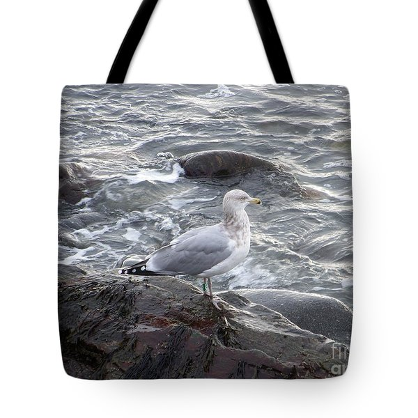 Looking Out To Sea Tote Bag by Eunice Miller