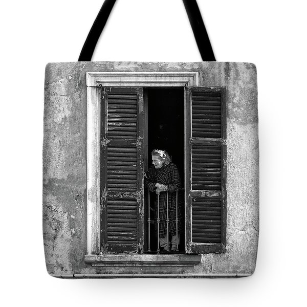 Looking Outside Tote Bag