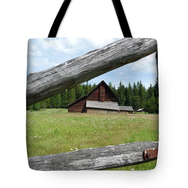 Looking Thru The Fence Tote Bag by Alan Socolik