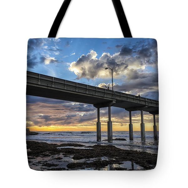 Looking Up At The Ob Pier Tote Bag by Joseph S Giacalone