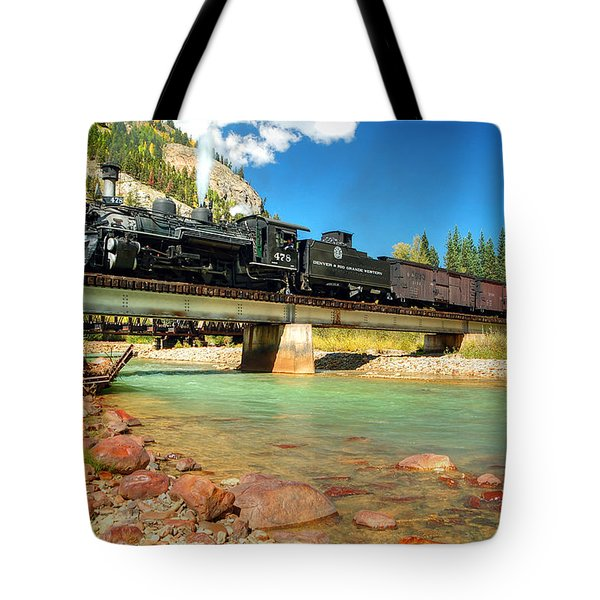 Looking Up From The Riverbed Tote Bag by Ken Smith