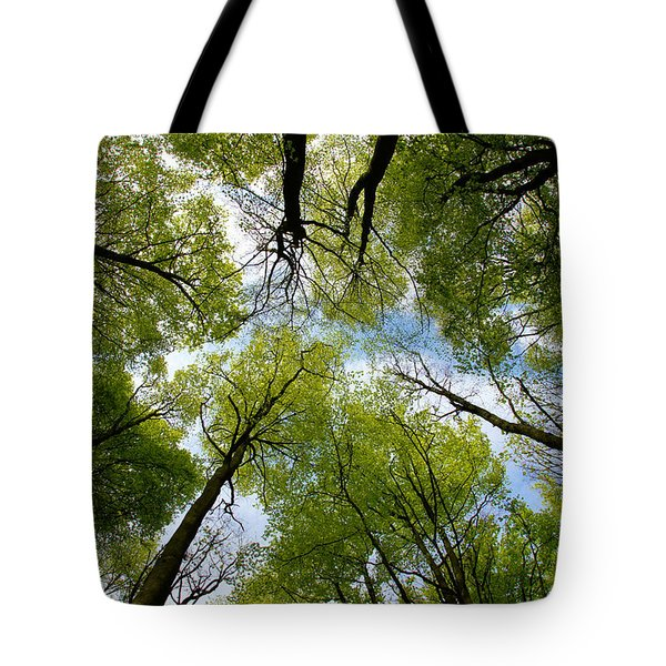 Tote Bag featuring the digital art Looking Up by Ron Harpham