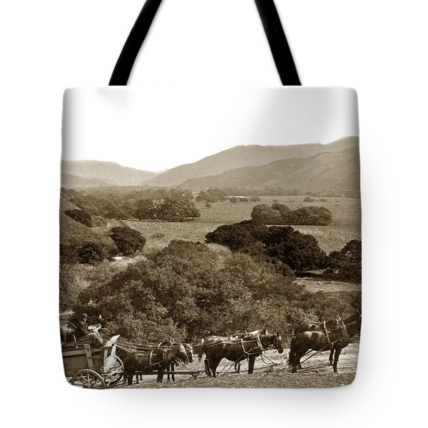 Looking Up The Carmel Valley California Circa 1880 Tote Bag