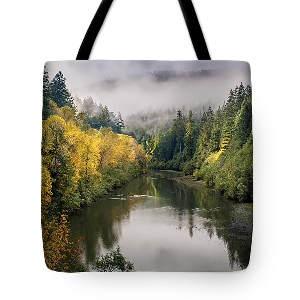 Looking Up The Eel River Tote Bag
