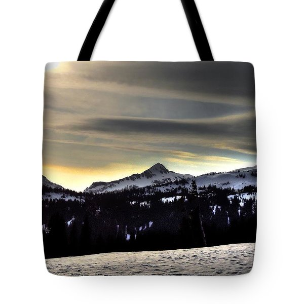 Looking West At Pyramid Peak Tote Bag