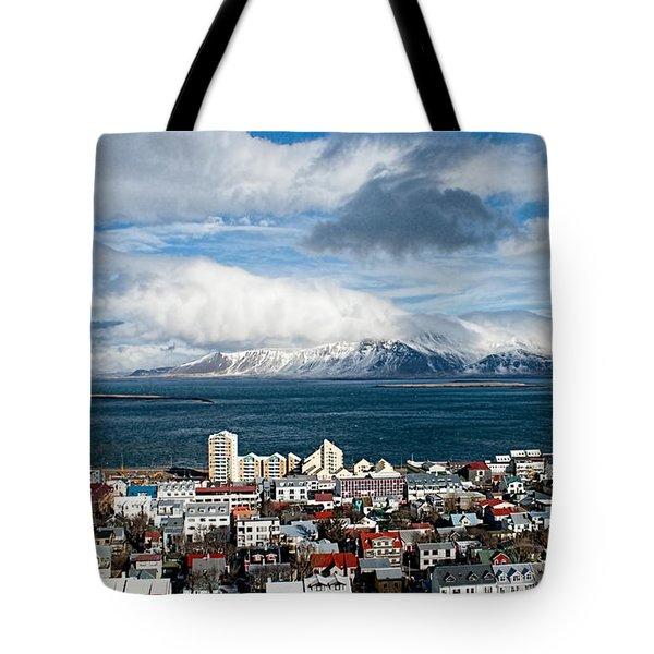 Lookout Over Reykjavik Tote Bag