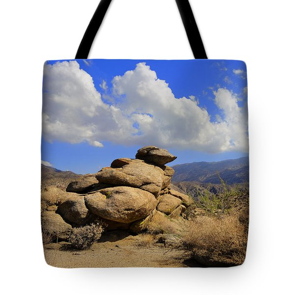 Tote Bag featuring the photograph Lookout Rock by Michael Pickett
