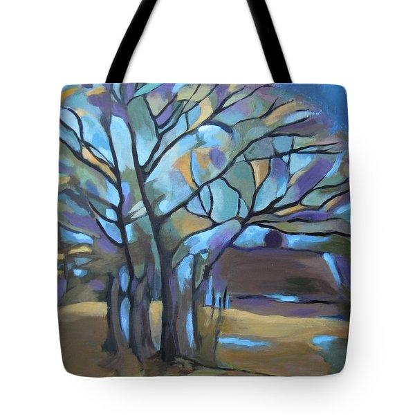 Looks Like Mondrian's Tree Tote Bag