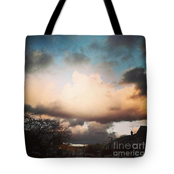 #lookslikerain #sky #skyscape Tote Bag by Isabella F Abbie Shores FRSA