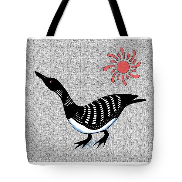 Loon And Sun Tote Bag