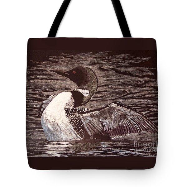 Loon Dance Tote Bag